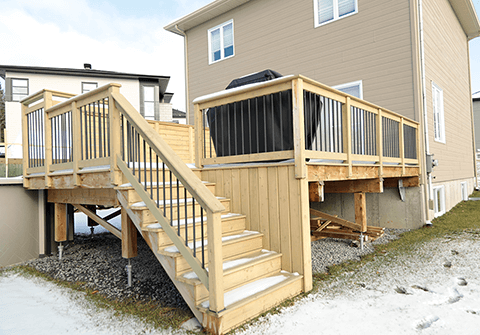 Tips for a stable and sustainable deck https www for Sustainable decking
